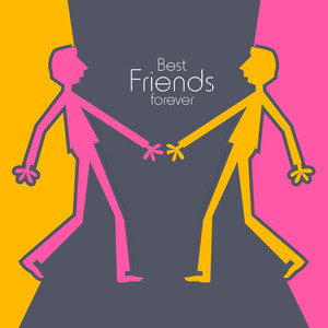300x300 Happy Friendship Day Concept With Colorful Silhouette Of People
