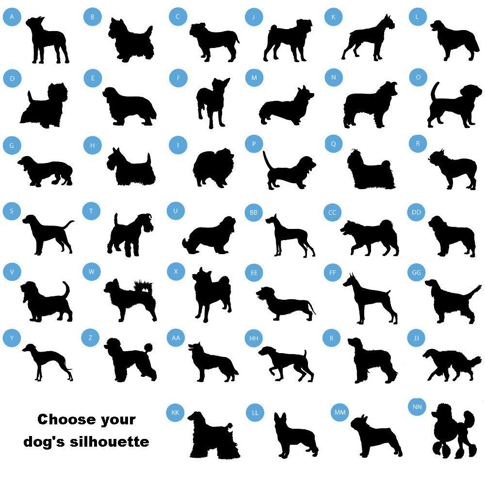 1000x1000 Man's Best Friend Silhouette Large Dog Bowl Absoluteawesomestuff
