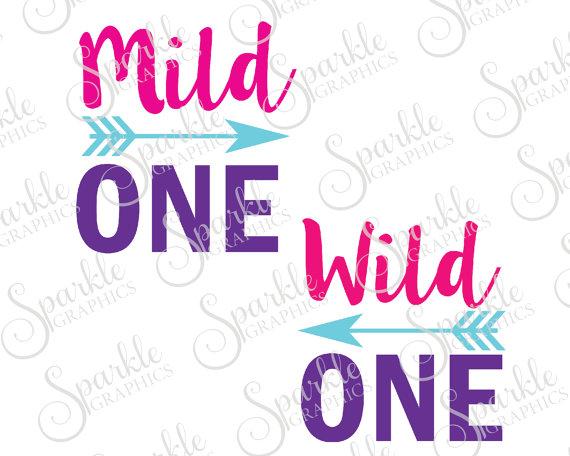 570x456 Mild One Wild One Cut File Best Friend Bestie Arrow Tribal Aztec