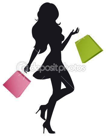 351x449 Chica De La Tienda Vector De Stock
