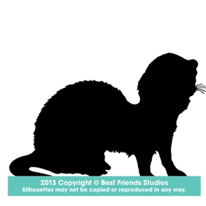 300x300 Ferret Silhouette Gifts, Stationery, Address Labels, Note Cards