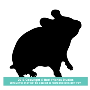 300x300 Hamster Silhouette Gifts, Stationery, Address Labels, Note Cards