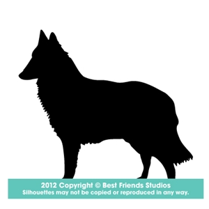 300x300 Belgian Tervuren Dog Silhouette Gifts, Stationery, Address Labels
