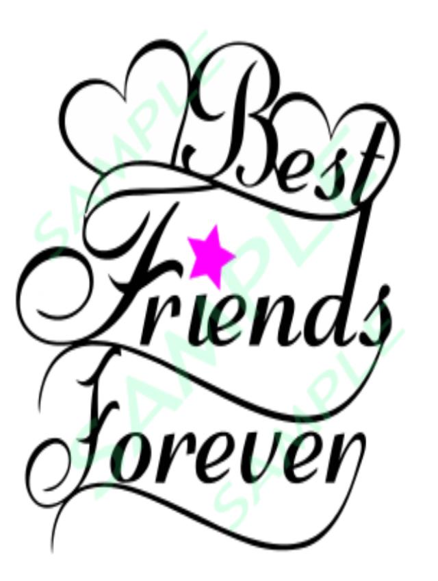 640x848 Best Friend's Forever Saying Cut Files Silhouette Cricut Svg