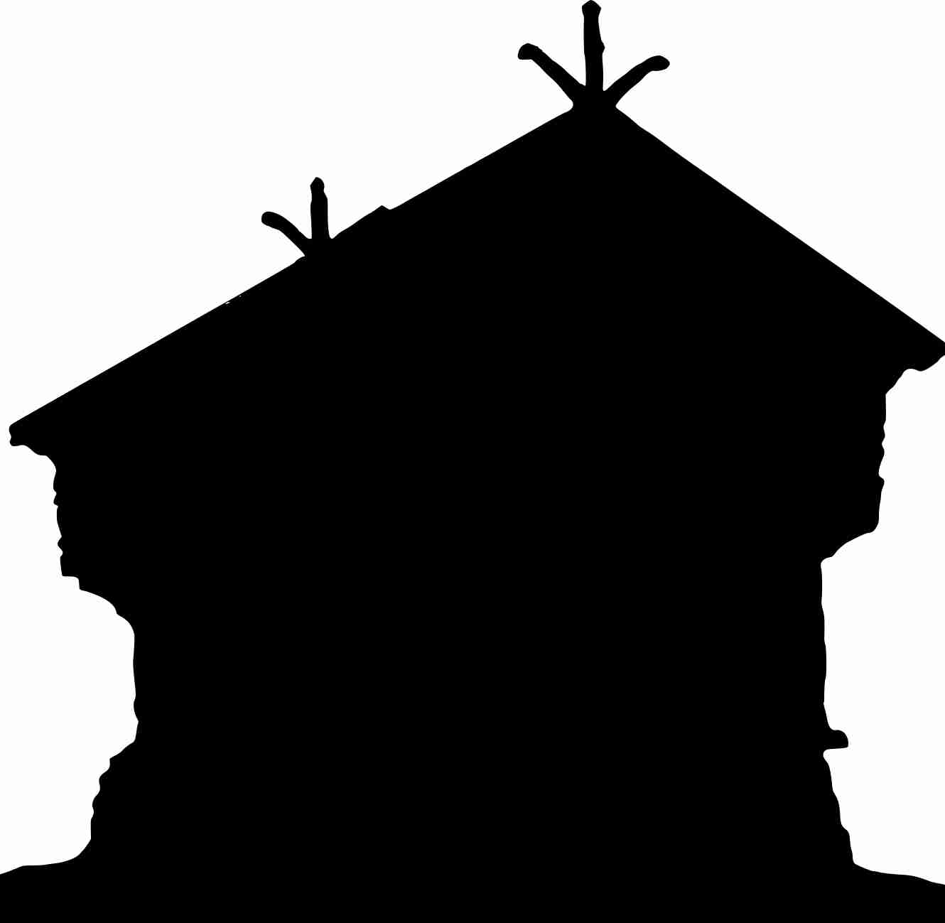 1330x1299 Clipart Haunted House Silhouette Within Png Olegratiy