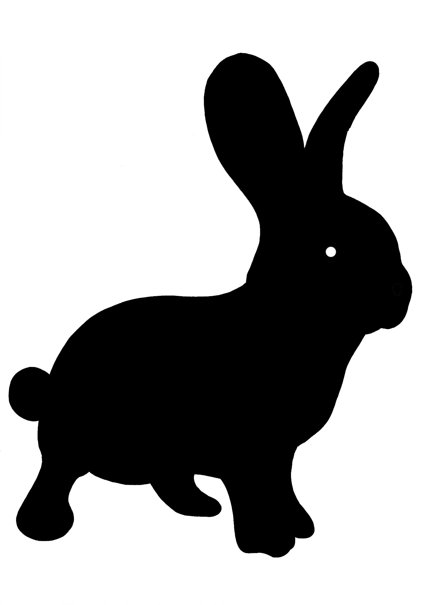 1500x2061 Rabbit Silhouette Clipart