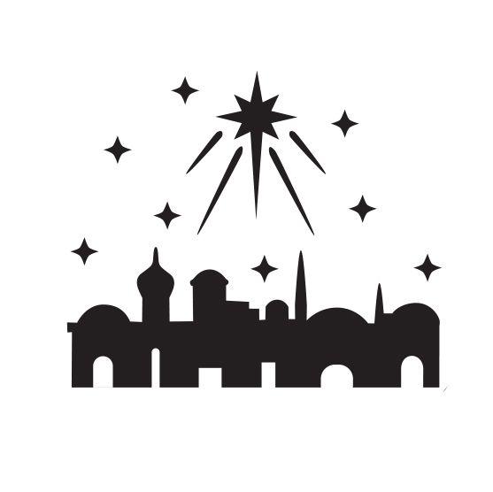 557x556 Image Result For Bethlehem In Silhouette Christmas