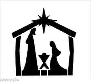 300x270 Stencil Christmas Bethlehem Manger Star Mary Joseph Baby Jesus Ebay