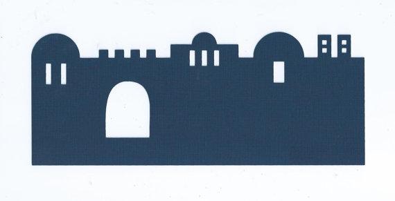 570x291 Bethlehem City Silhouettes Set Of Three By Hilemanhouse On Etsy