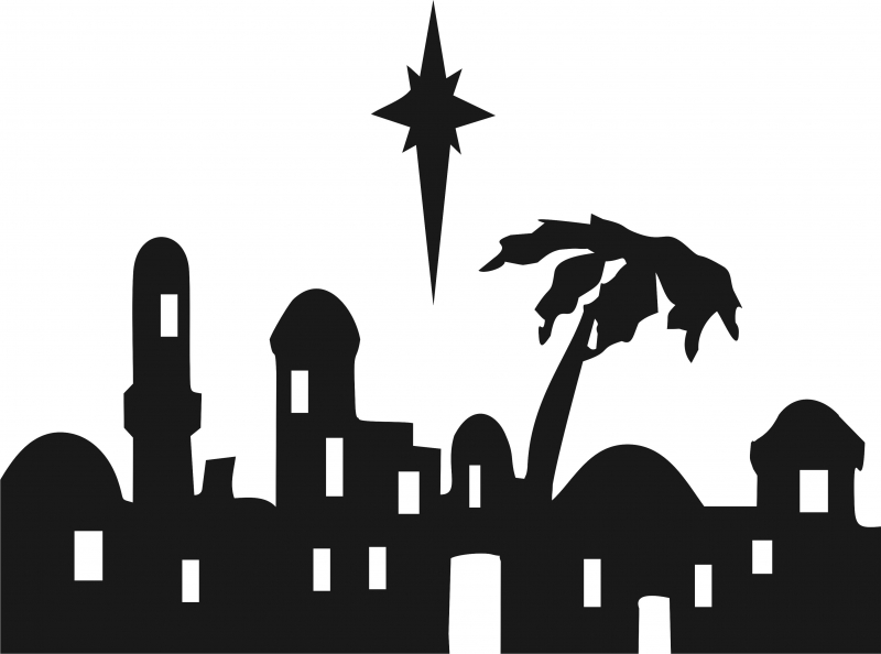 bethlehem silhouette town at getdrawings com free for personal use rh getdrawings com clipart bethlehem star bethlehem inn clipart