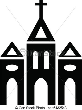 350x470 Christian Building Clipart Vector And Illustration. 2,561