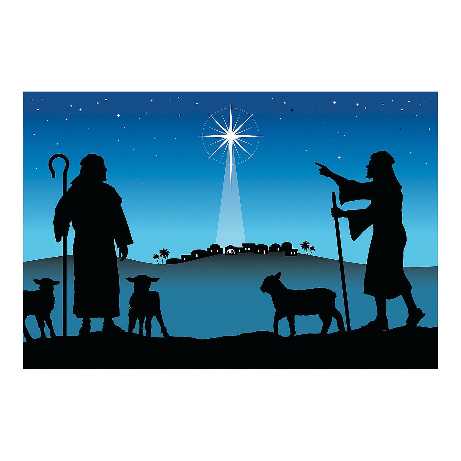 1500x1500 Silhouette Nativity Backdrop Backdrops, Banners And Silhouettes