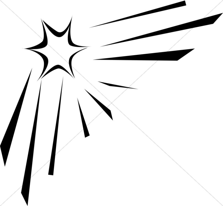 776x717 Outline Of Shining Star Christian Star Clipart