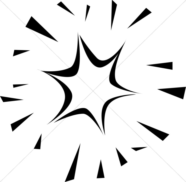 776x759 Shining Star Of Bethlehem In Black And White Inspirational Clipart