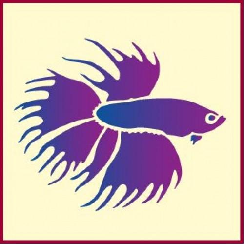 500x500 Betta Fish Stencil The Artful Stencil