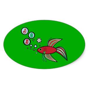 307x307 Red Betta Fish Stickers Zazzle