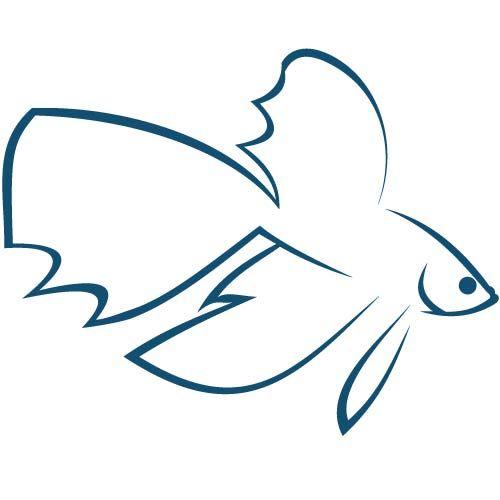 500x500 Betta Fish Logo By Katlyn Thompson Logos Fish Logo