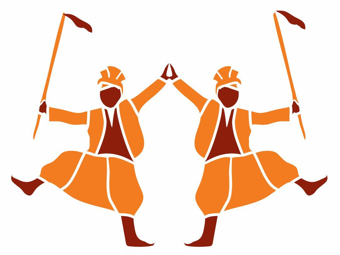 Bhangra Silhouette at GetDrawings.com | Free for personal ...