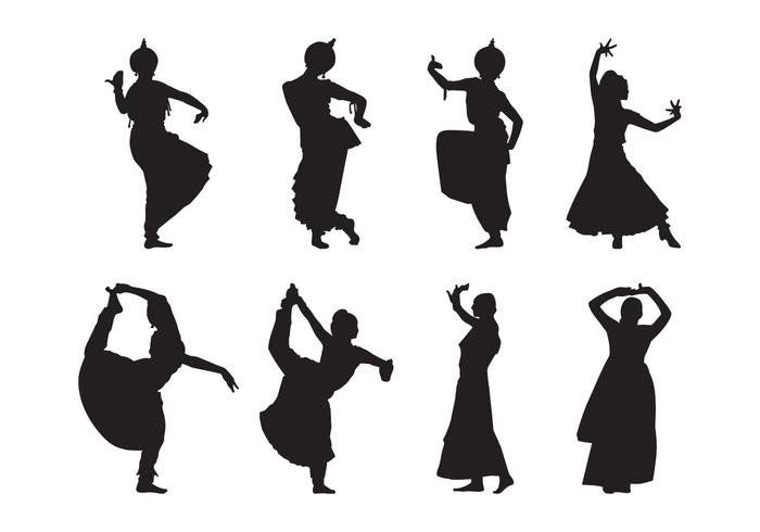 700x490 Free Indian Dance Silhouette Vector