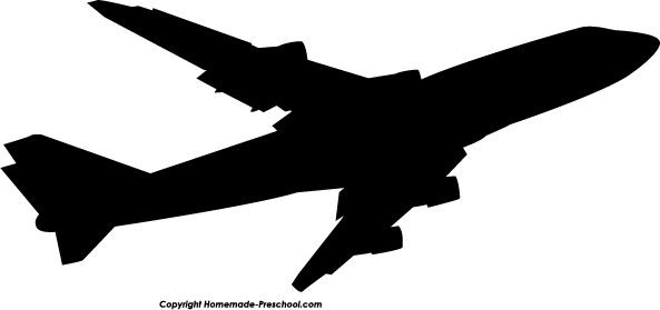 593x279 Airplane Silhouette Clip Art