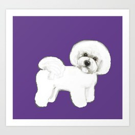 264x264 Bichon Art Prints Society6