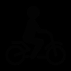 283x283 Person Riding A Bike Silhouette Silhouette Of Person Riding A Bike
