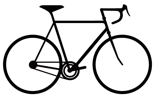 497x321 Bicycle Silhouette Wall Decals Wall Decals, Bicycling
