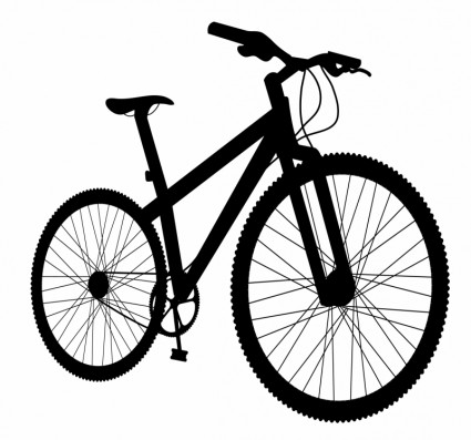 425x397 Bicycle Silhouette Vector Silhouettes Free Vector Free Download