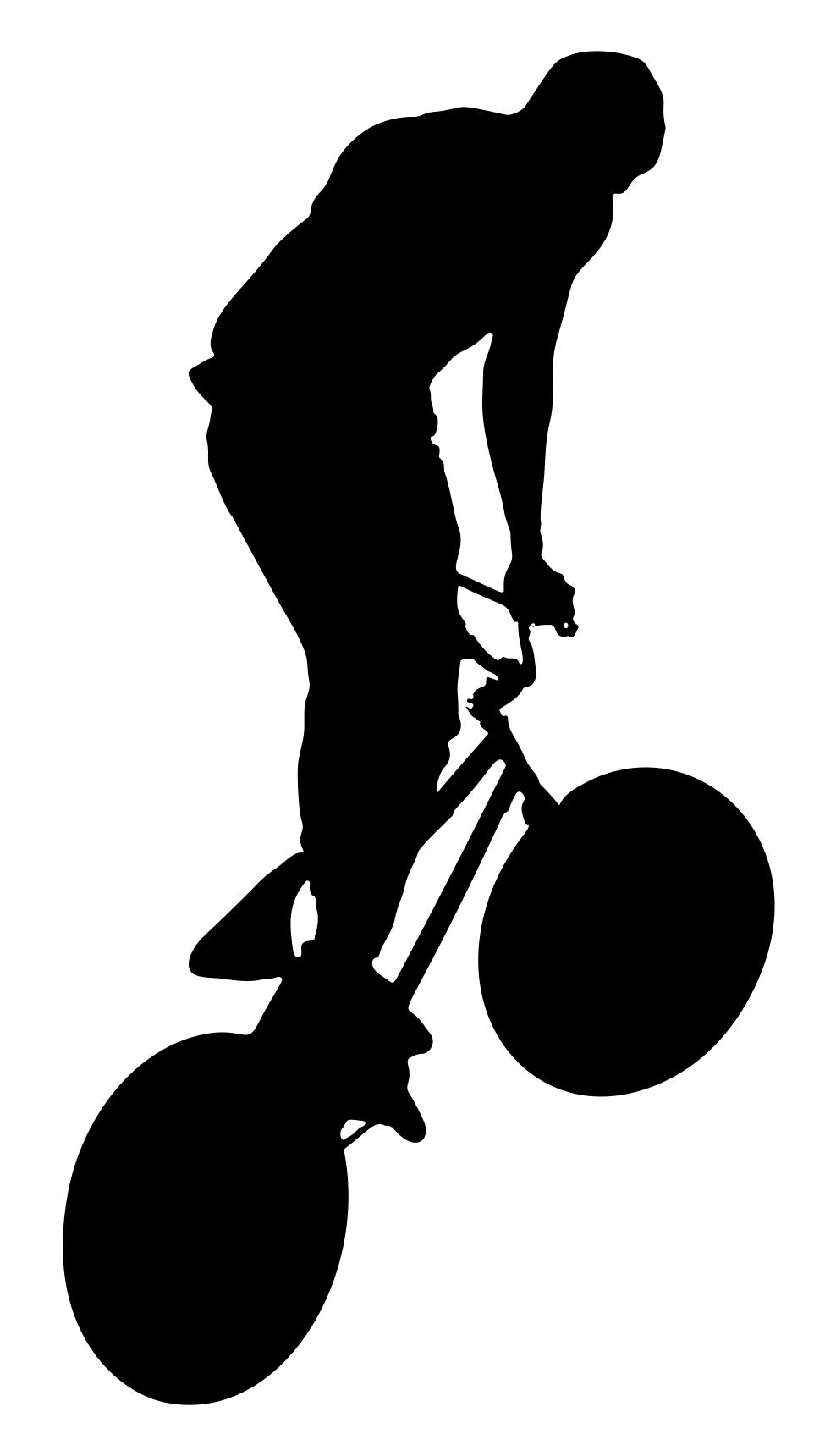 988x1720 Bicycle Trick Silhouette Clipart