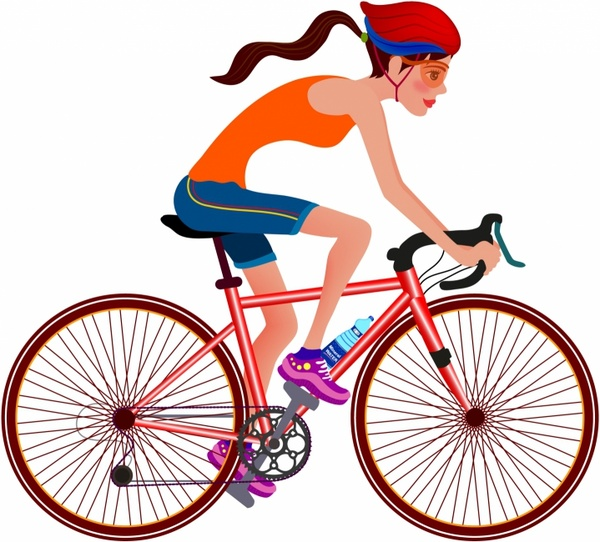 600x542 Bicycle Silhouette Vector Free Vector Download (5,580 Free Vector
