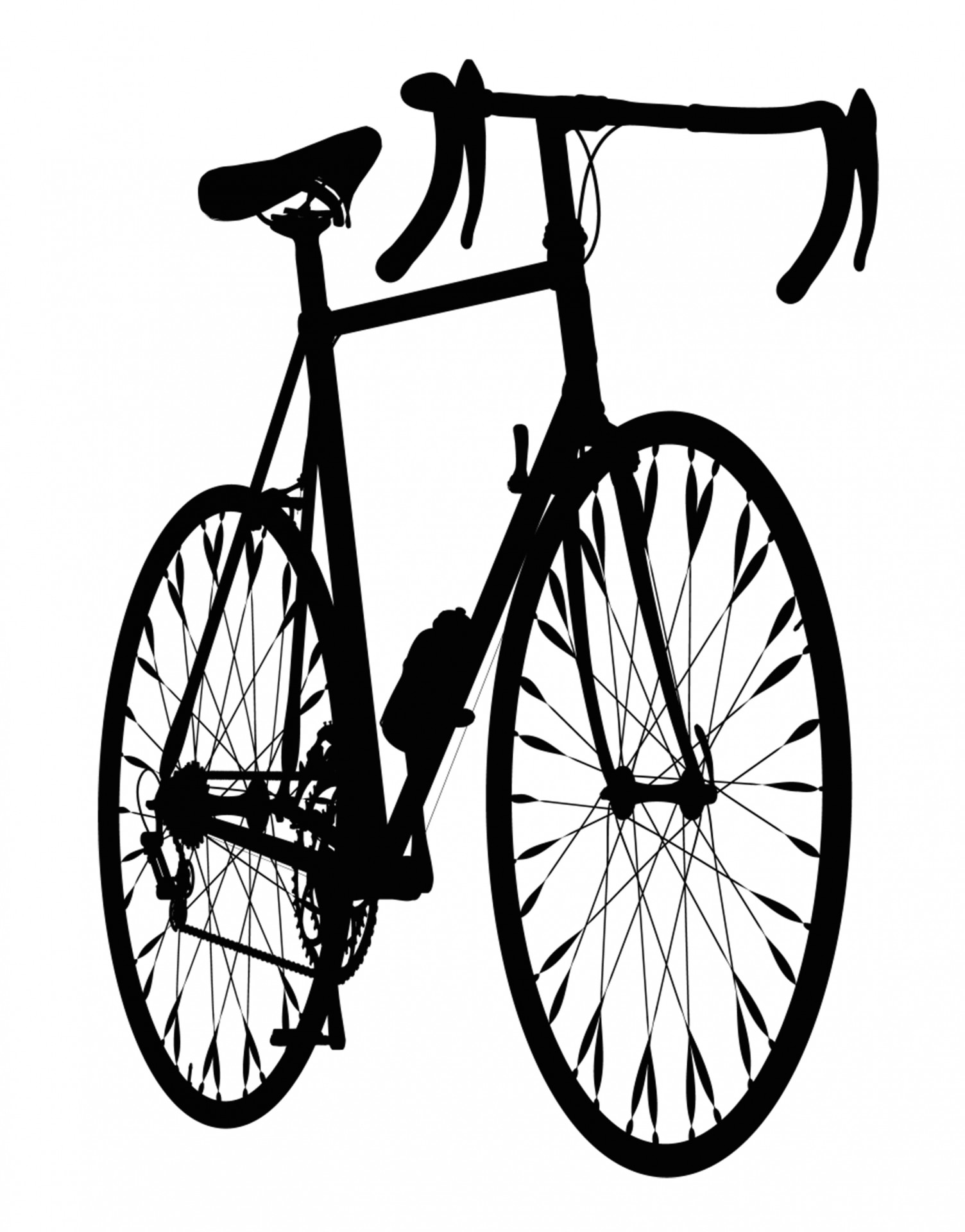 1504x1920 Mountain Bicycle Silhouette Free Stock Photo