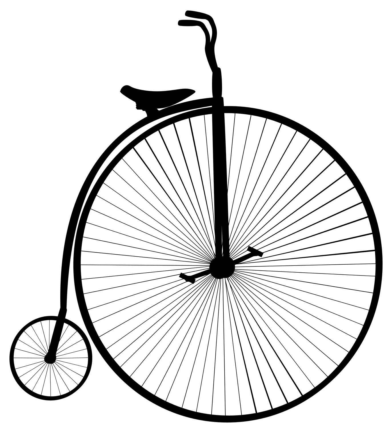 1372x1515 Penny Farthing (Large Small Wheels) Bicycle Silhouette Clipart