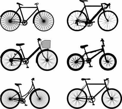 411x368 Road Bike Silhouettes Free Vector Download (6,598 Free Vector)