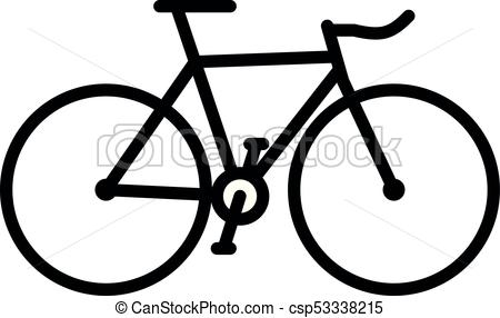 450x286 Simple Bicycle Silhouette. Simple Vector Illustration