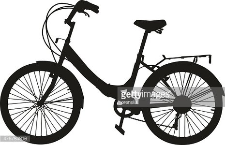 465x300 The Black Silhouette Of A Bicycle Premium Clipart
