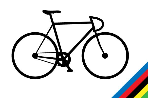 600x400 Track Bike Vector Silhouette Free