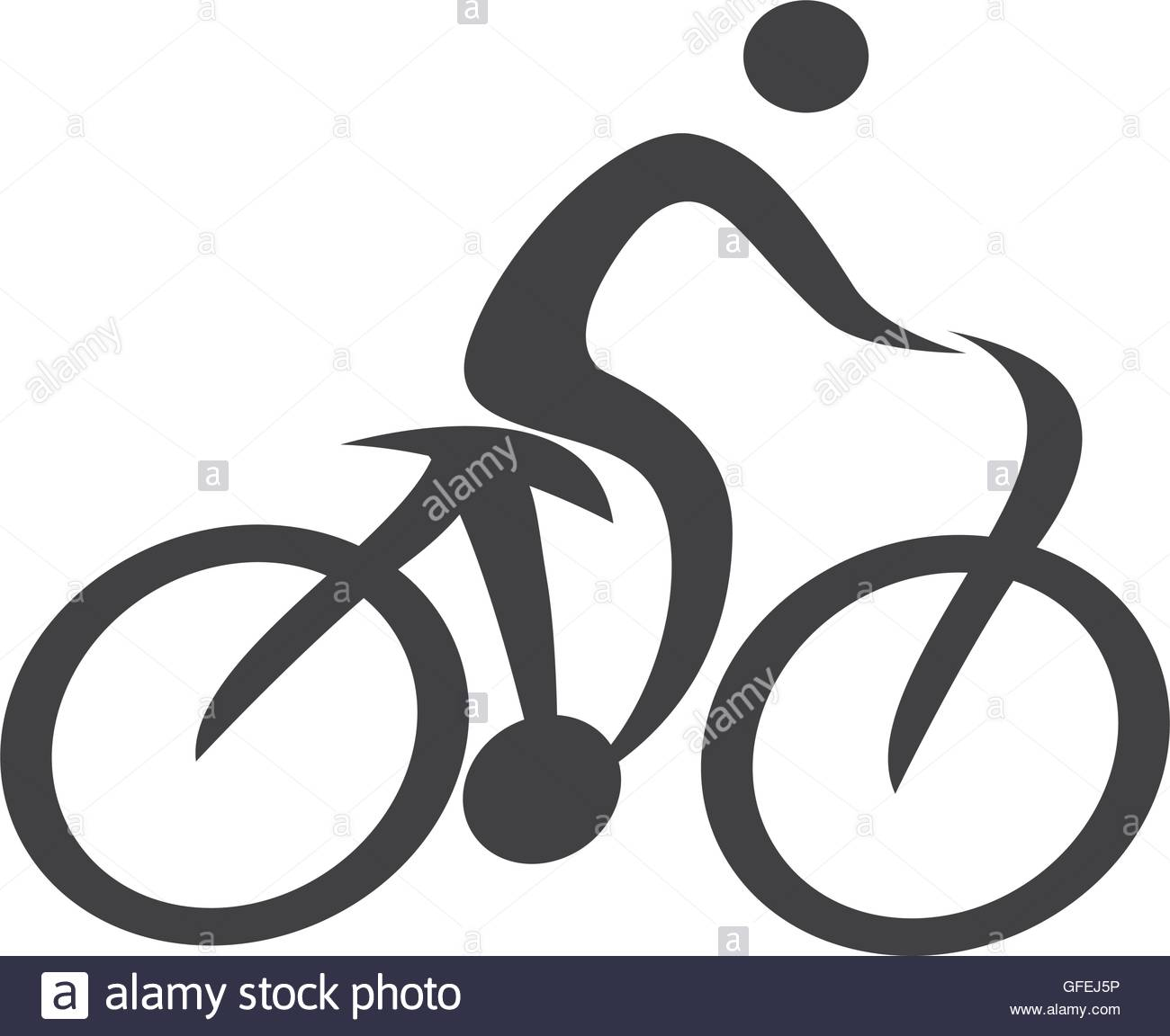 1300x1152 Human Figure Silhouette Bicycle Icon Stock Vector Art
