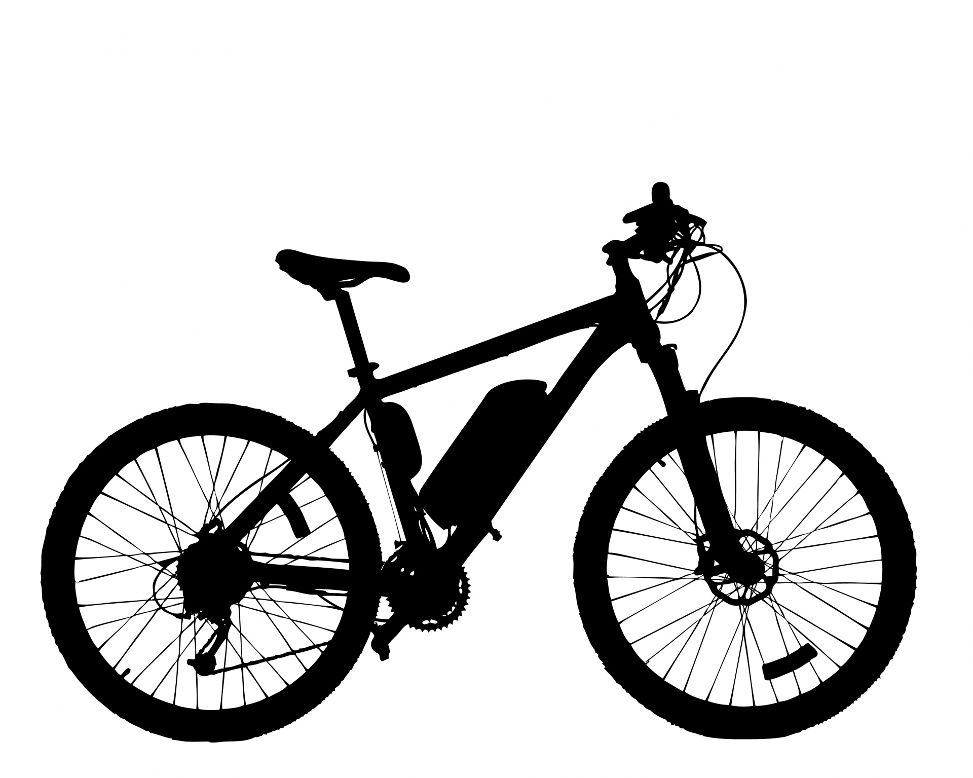 1920x1535 Bicycle Silhouette Free Stock Photo