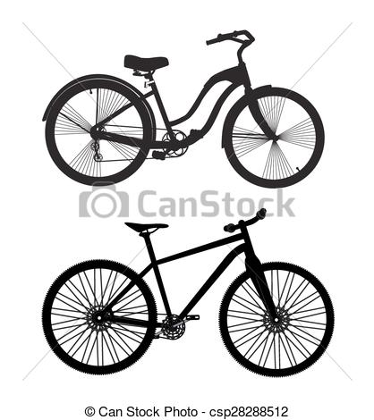 418x470 Bicycle Silhouette. Vector Illustrator. Eps10 Vector Clip Art
