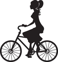 236x253 Clip Art Image Of A Girl Riding A Bike Silhouette