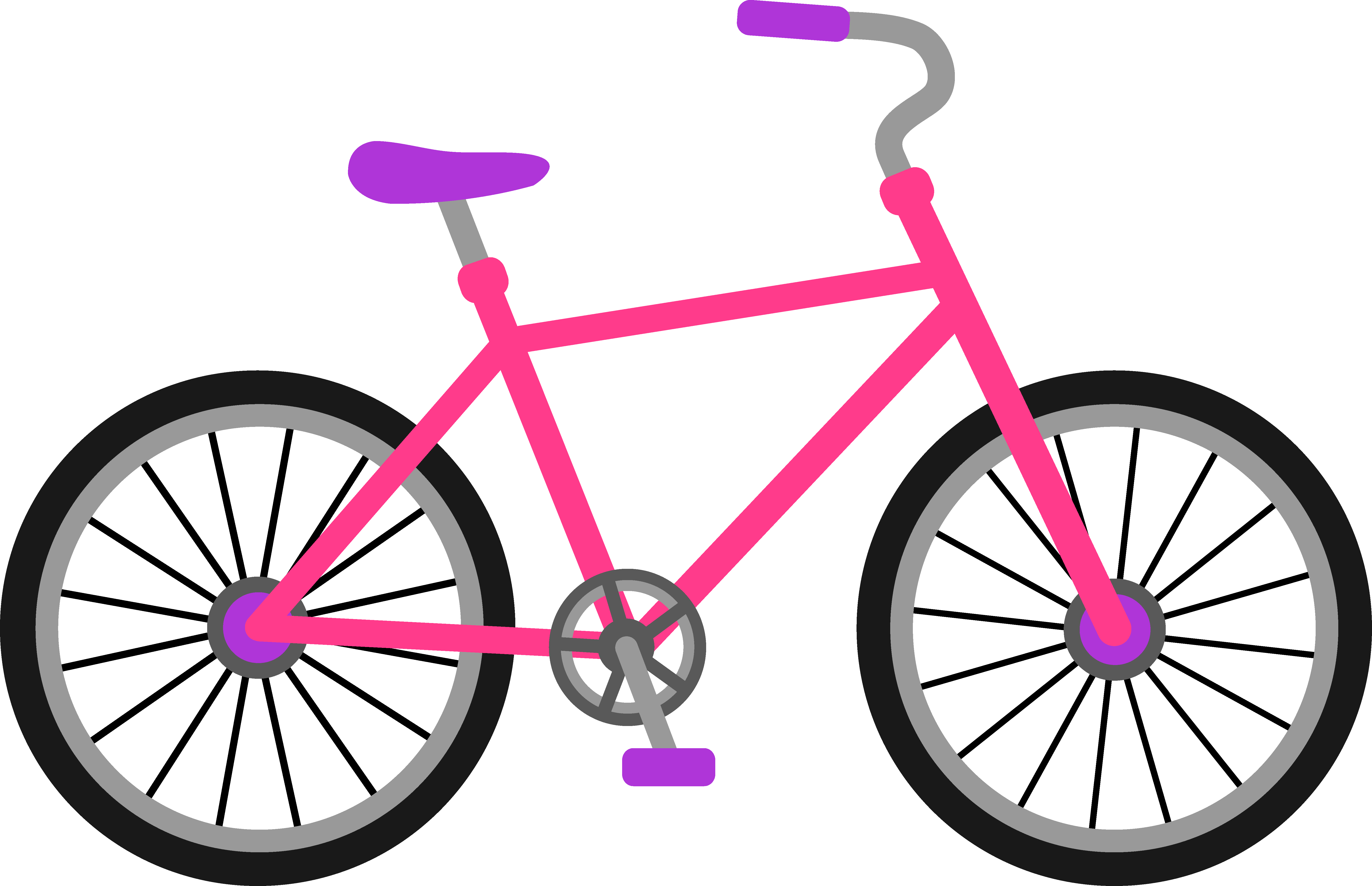 6305x4070 Clipart Of Girl On Bike Silhouette