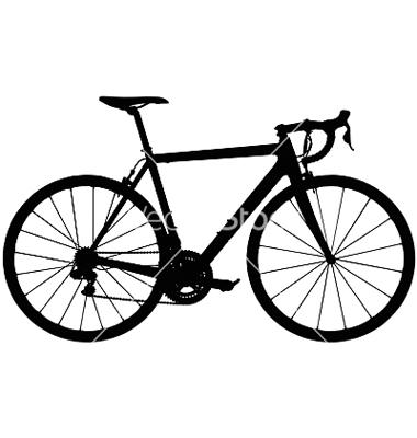 380x400 Road Bike Silhouette Clipart