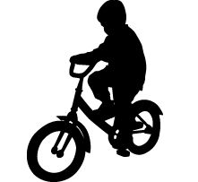 221x203 Silhouette Clipart Of Kids Riding Bikes