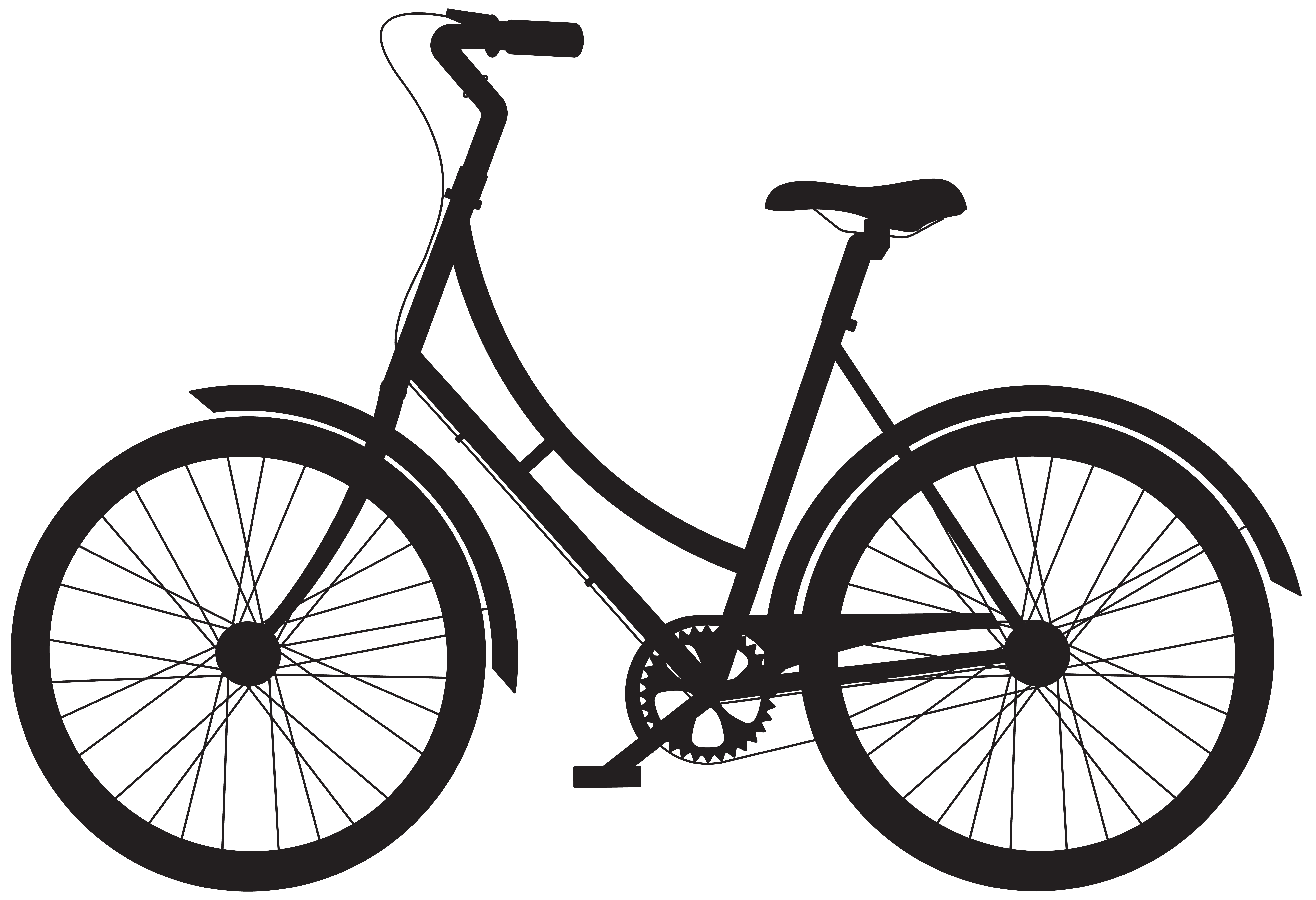 8000x5473 Bicycle Silhouette Png Clip Artu200b Gallery Yopriceville