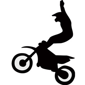 275x275 Dirt Bike Silhouette Clipart