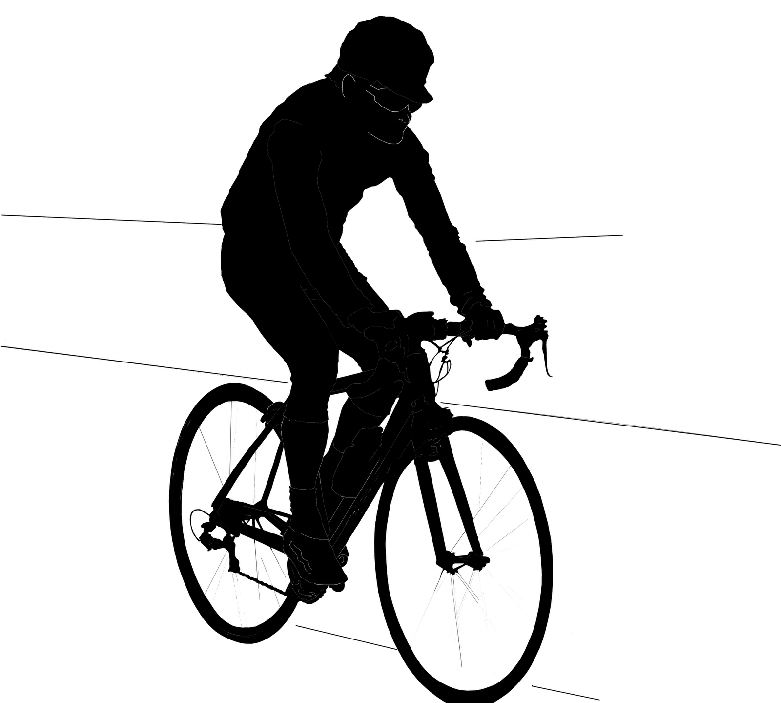 1600x1439 Person On Bike Silhouette Clipart