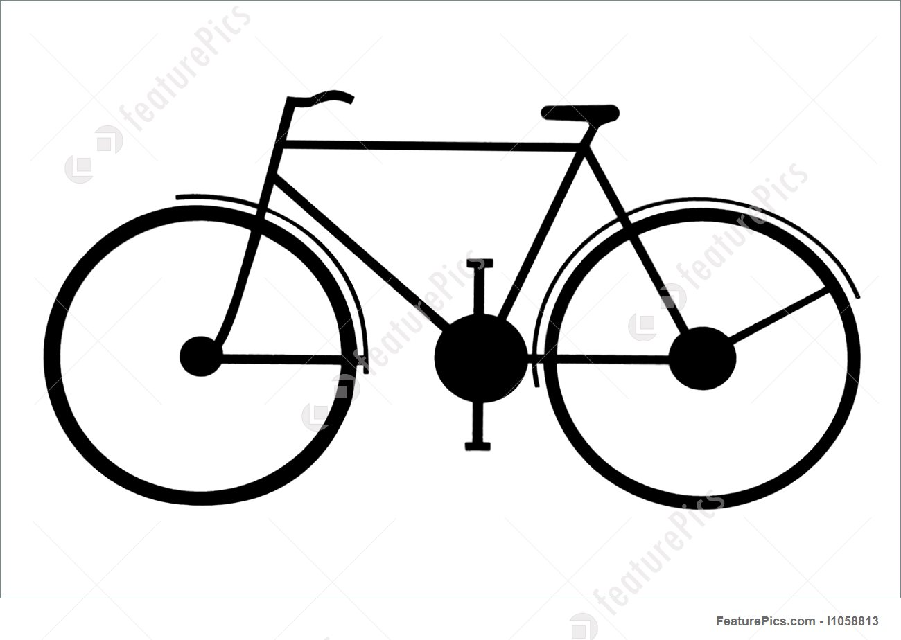 1300x924 Transportation Silhouette Of A Bike On Sign