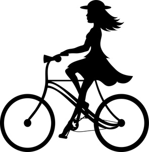 295x300 Bicycle Silhouette Clipart