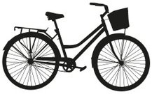 217x135 Bicycle Silhouette Premium Clipart