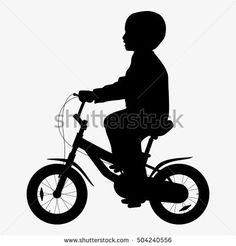 Bicycle Vector Silhouette
